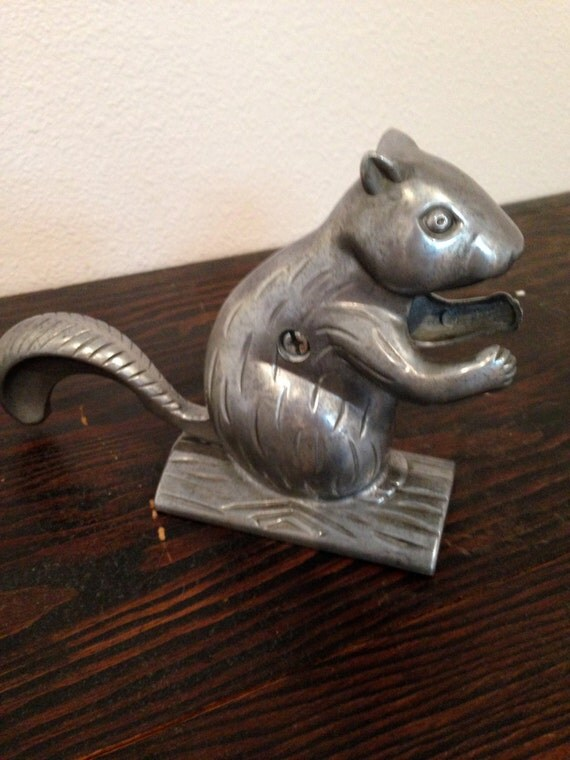 Metal nut cracker squirrel kitschy gift by happykristenvintage - Squirrel nut crackers ...