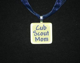 Necklace - Cub Scout Mom glass tile necklace