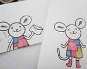 10 envelopes /  mouse