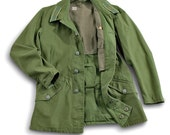 Army Jacket / Swedish Military Jacket Utilitarian, Grunge, Army Coat / Size Large