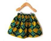 African Print Girls Skirt in Gorgeous Cotton
