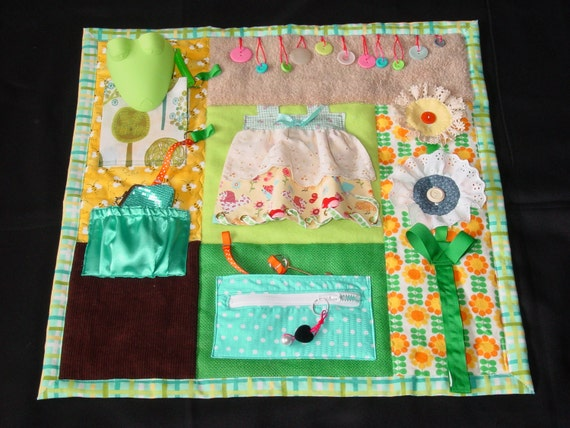 Garden Girl Fidget Quilt Tactile Bright Amp Colorful Fun