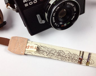 DSLR Camera strap---Tower, Frame,Feathers, Pen, Word