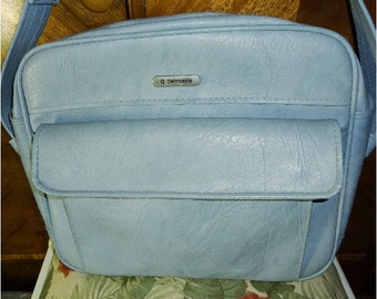 Gorgeous Vintage Baby Blue Samsonite Cordoba Luggage Tote