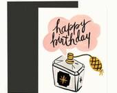 Birthday Perfume Greeting Card