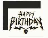 Metal Birthday Greeting Card