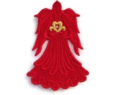 Beautiful Machine Embroidered Lace Angel with Heart
