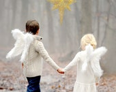 Angel Wings Beautiful Choose color Flexible Natural design for Costume, Cosplay or Photo Prop Child/Adult Sizes  FREE halo Valentine's Day