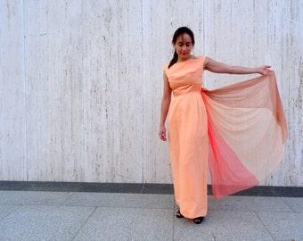 Vintage peach dress romantic