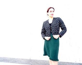 Vintage green sweater skirt fall skirt