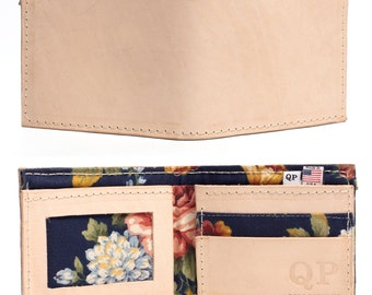 Handmade Veg Tan Leather Mens Bifold Wallet