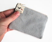 ON SALE Striped coin purse , zipper coin purse , business card bag , credit card pouch , handmade purse , change pouch