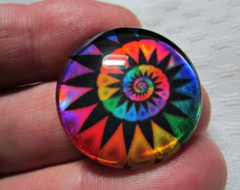 Jewelry supplies-focal bead-holographic glass-foiled glass-colorful glass-jewelry making-beading supplies