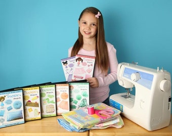 Learn How to Sew for Kids Pixie Projects Level 1 & 2 DVDs (Beginning / Intermediate Volume 1 thru 7)