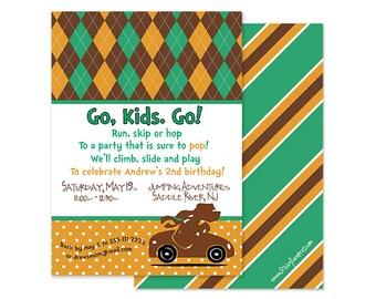 Dr. Suess-Go, Dog. Go Inspired Birthday Invitation, Custom Printable