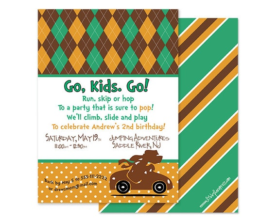Dr. Suess-Go, Dog. Go Inspired Birthday Invitation, Custom Printable