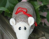 Handcrafted Sock Monkey Opossum