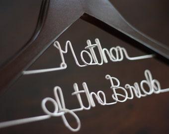 Wedding Hanger - Double-Decker Walnut Finish