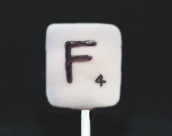 SCRABBLE CAKE POPS, Party Favors, Scrabble Party, Games Cake Pops, Character Cake Pops