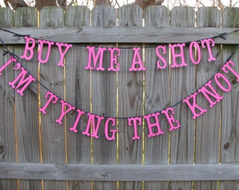 Hen's Party - Bachelorette Party Banner - Bridal Shower - Lingerie Party - Last Fing Party - Girls Night Out Party - Cheers To The Bride