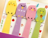 bird - Sticky Post it Note - stick marker- fusen collection