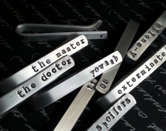 SALE - Pick Your Own Tie Bar / Design Your Own Tie Tack, Doctor Themed, Customizable, Free Gift Wrap