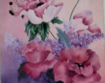 Pink Floral Oil Painting