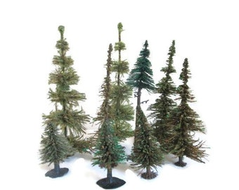 Bottle Brush Trees Forest Woodland Miniatures Tree Collection