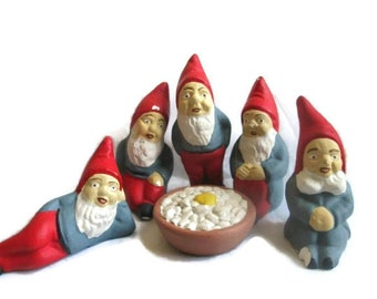 SALE Christmas Elves Collectible Elf  Set Santas Helpers Decorations