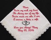 Wedding handkerchief embr...