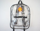 90s Clear Backpack Pvc School Book bag Shell