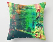 One Love Bob Marley Throw Pillow Square Music Reggae Home Decor | Made in the USA  Product Sizes and Pricing via Dropdown Menu