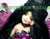 OOAK  Fairy pixie fae doll fantasy polymer clay sculpture    IADR       free shipping
