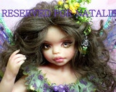 OOAK  Fairy pixie baby doll fae polymer clay sculpture    IADR      free shipping