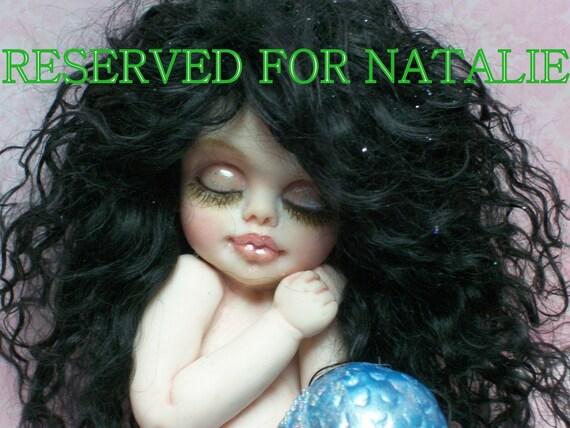 OOAK art doll fantasy mermaid baby polymer clay sculpture fairy   IADR       free shipping