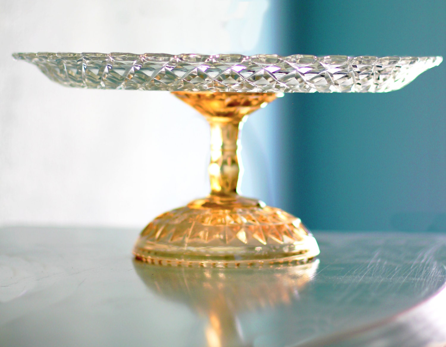 Glass Footed Cake Stand