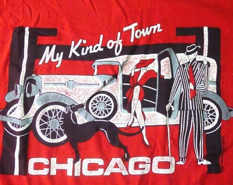 Vintage 80s 1987 Chicago My Kind of Town Red T-Shirt