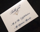 Pearl Embellished Placecard - 40 QUANTITY