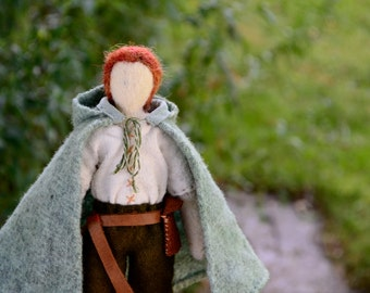 Needlefelted Waldorf Doll. Wanderer Series 002. Handmade Penny Doll by alyparrott on Etsy.