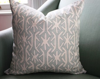 SALE: Thibaut Rinca Pillow Cushion Cover Seafoam 20 Inch