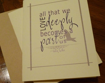 Helen Keller Quote Notecard