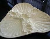 Porcelain Scallop Shell Serving Platter