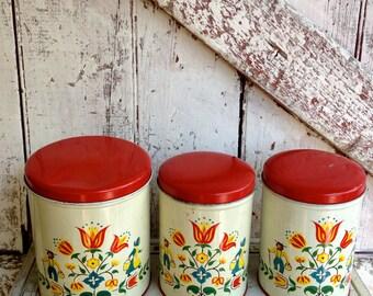 Folk Art Kitchen Canister Sets