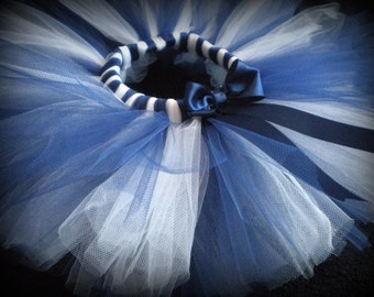 Custom Sports Tutu, Navy Blue and White Tutu, can do most team colors for babies, toddlers, and girls