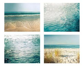 ocean photography nautical decor sparkle photography print set 8x10 8x12 fine art photography beach bokeh photography coastal water ripples