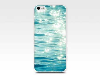 nautical iphone case abstract iphone 5s case iphone 6 bokeh iphone case water ripples teal aqua iphone 4s case 5 blue fine art iphone 4 case