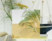 Sand Dunes Card - blank, British seaside