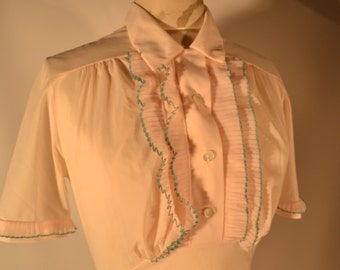 60's Pale Pink Tricot Nightgown