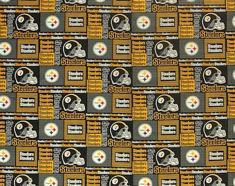 NFL Pittsburgh Steelers Cotton V1 Fabric