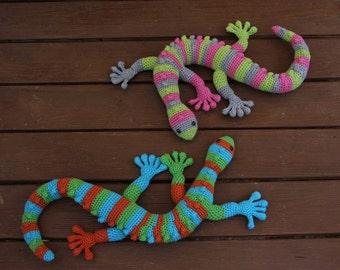 Gecko Toy, Stuffed Gecko Toy, Crochet Gecko Toy, Lizard Toy, Plush Crochet Lizard, Amigurumi Toy Lizard, Plush Gecko Toy